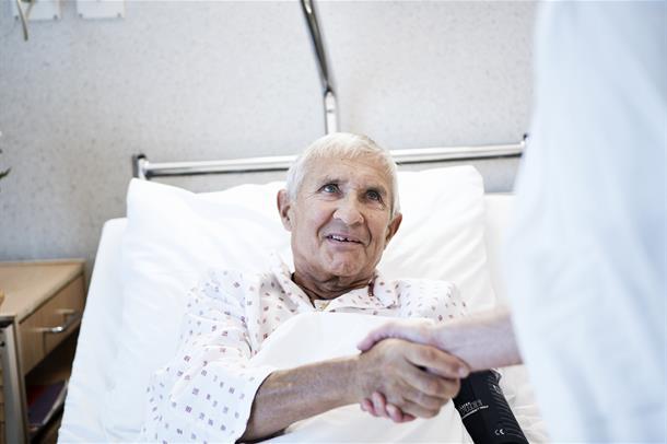 Illustrasjonsbilde. Pasient på sjukehus. Foto: Kristin Støylen