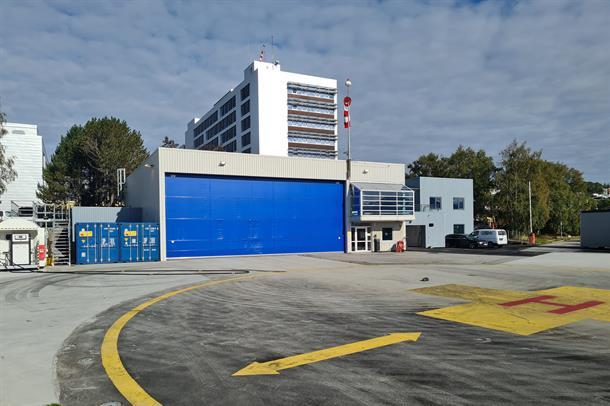 Helikopterbasen ved Ålesund sjukehus