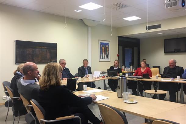 Styret i Helse Møre og Romsdal under møtet 7. desember 2016.