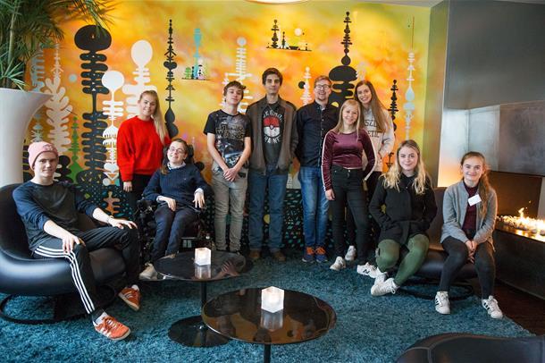 Gruppebilde av ungdomsrådet i Helse Møre og Romsdal.