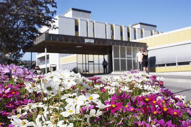 Inngangspartiet ved Ålesund sjukehus