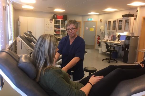 Fagbioingeniør ved blodbanken i Ålesund